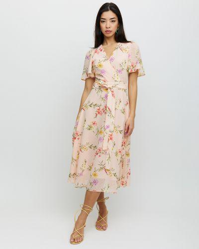 Платье с поясом с вырезом ниже колена Cardo