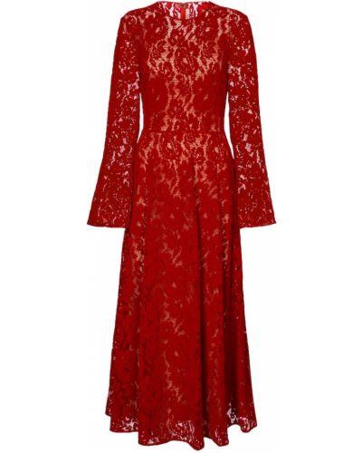 Свободное бархатное кружевное вечернее платье Christopher Kane