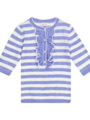 Fioletowy sweter w paski bawełniany Morley