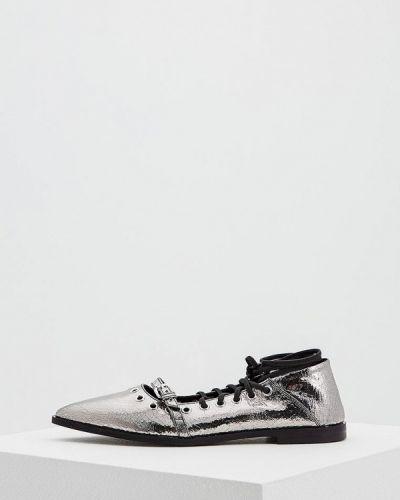 Туфли для офиса серебряного цвета Mcq Alexander Mcqueen