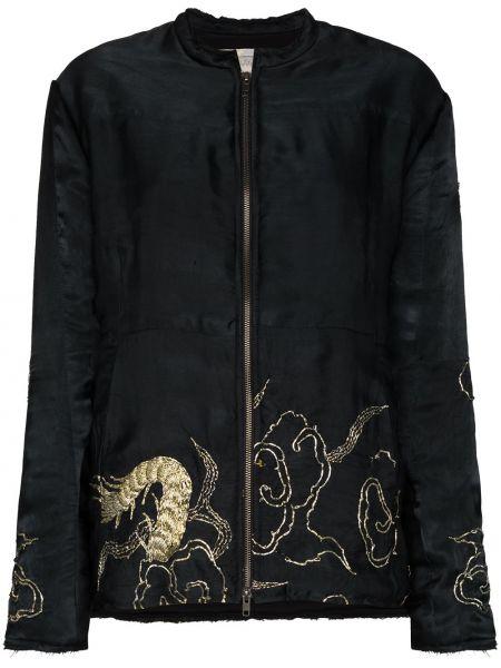 Черная куртка двусторонняя на молнии By Walid