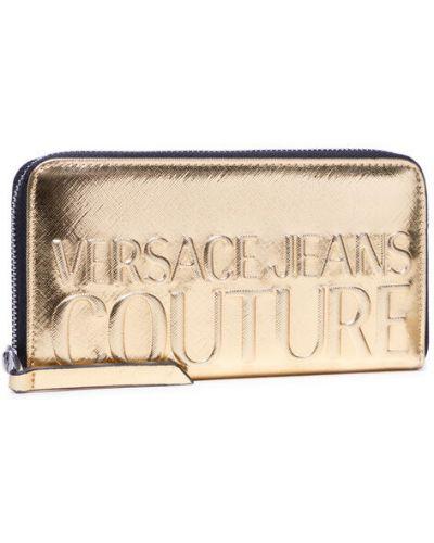 Złoty portfel Versace Jeans Couture