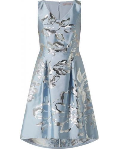 Niebieska sukienka koktajlowa rozkloszowana bez rękawów Christian Berg Cocktail