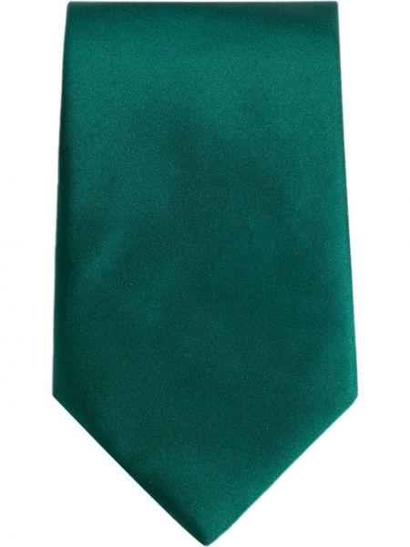 Шелковый зеленый галстук Dolce & Gabbana