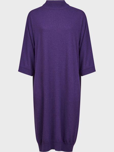 Фиолетовое шерстяное платье Kontatto