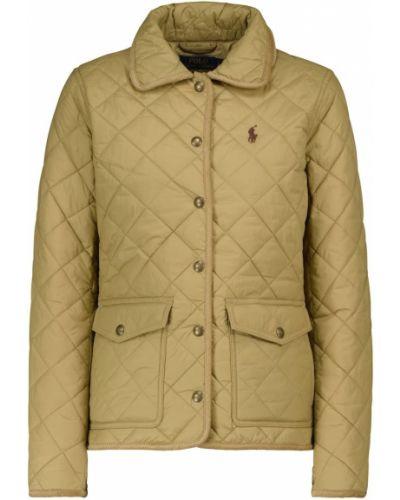 Нейлоновая бежевая стеганая куртка Polo Ralph Lauren