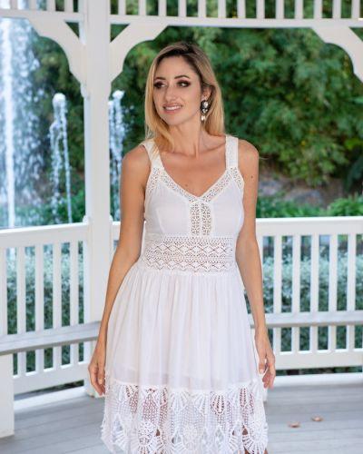 Пляжное кружевное белое платье Fresh Cotton