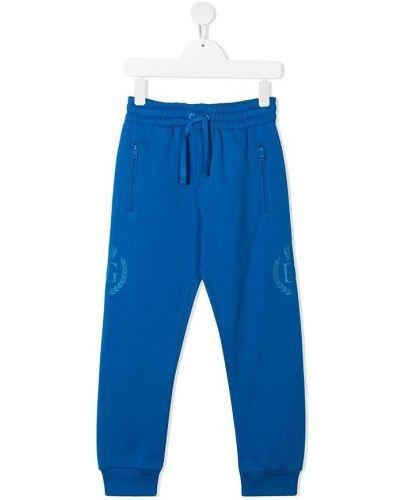 Spodnie sportowe bawełniane granatowe Dolce And Gabbana