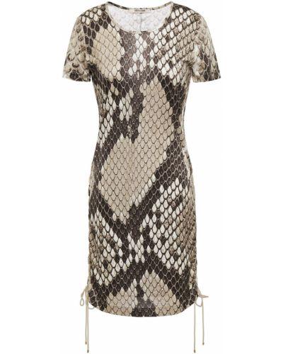 Платье мини атласное Roberto Cavalli