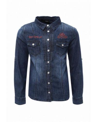 Синяя джинсовая рубашка Guess