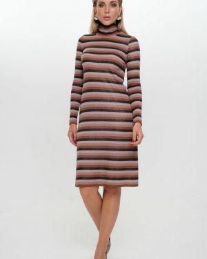 Платье миди в полоску лапша Leleya