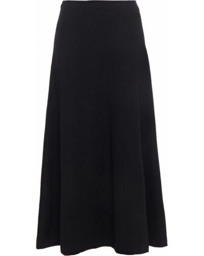 Черная юбка миди из вискозы стрейч SamsØe Φ SamsØe