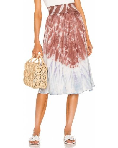Сатиновая юбка миди - синяя Chaser
