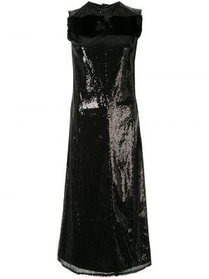 Платье миди с пайетками на молнии без рукавов с вырезом Yang Li