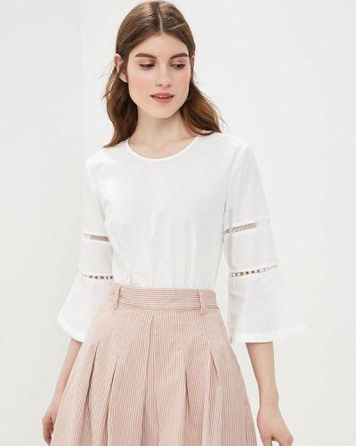 Блузка с длинным рукавом белая весенний Sisley
