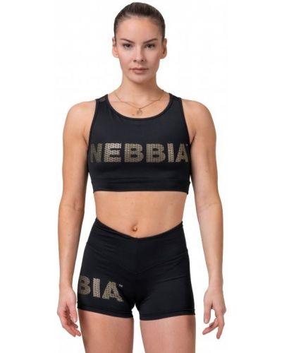 Спортивный кроп-топ - черный Nebbia