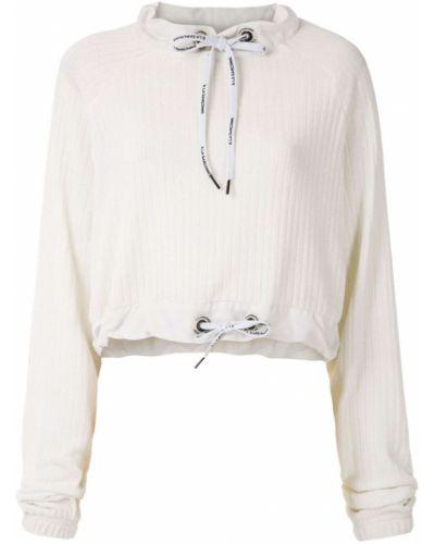 Свободные с рукавами белый джемпер свободного кроя à La Garçonne