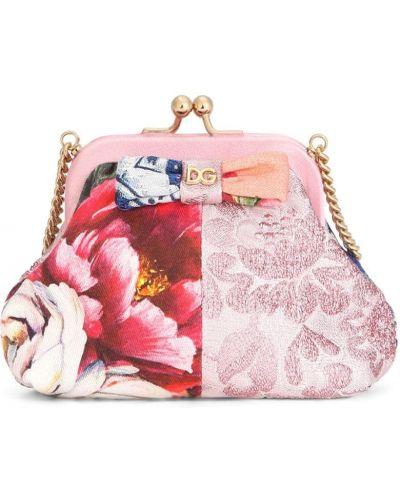 Розовый клатч металлический Dolce & Gabbana Kids