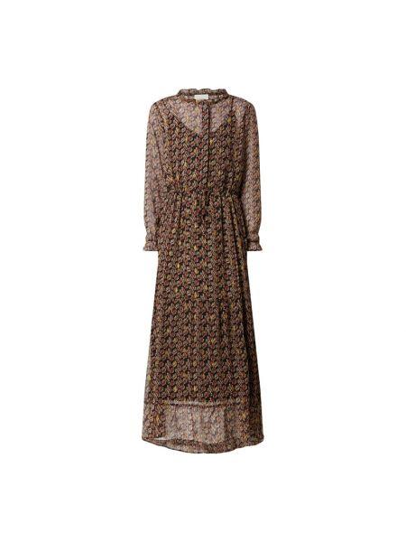 Sukienka rozkloszowana z falbanami z długimi rękawami Neo Noir
