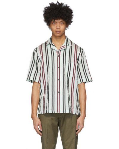 Koszula krótkie z krótkim rękawem z wiskozy w paski Acne Studios