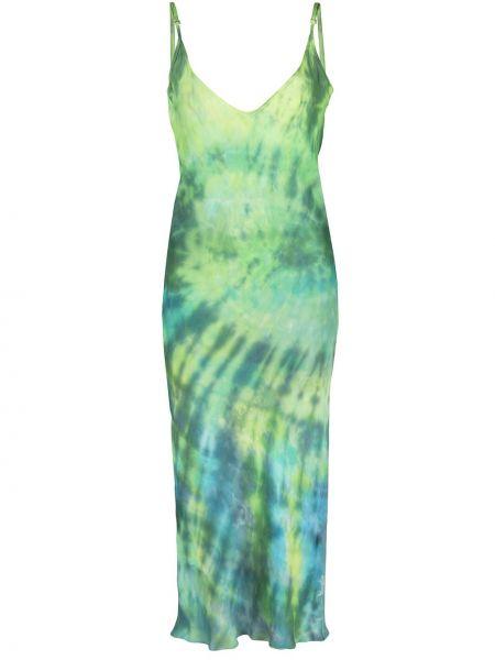 Sukienka asymetryczna - zielona Collina Strada