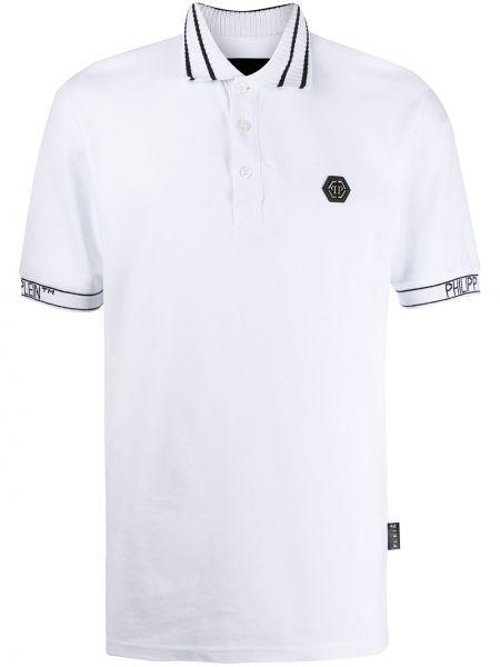 Koszula krótkie z krótkim rękawem z logo prosto Philipp Plein
