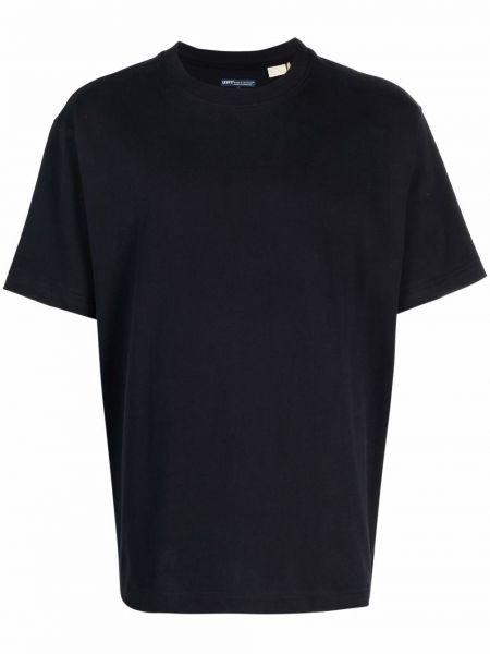 T-shirt bawełniana - niebieska Levis Made & Crafted