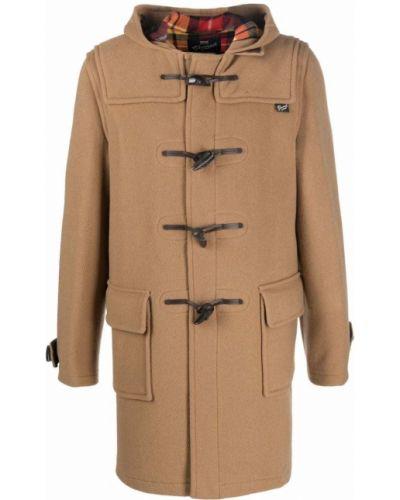 Коричневое пальто с капюшоном Gloverall