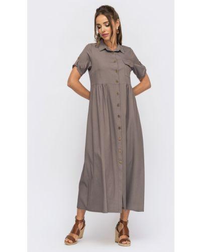 Джинсовое платье - фиолетовое Dressa