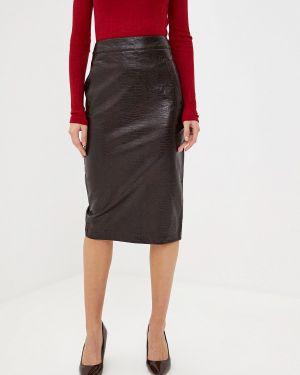 Кожаная юбка бордовый Warehouse