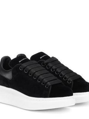 Czarne sneakersy skorzane Alexander Mcqueen