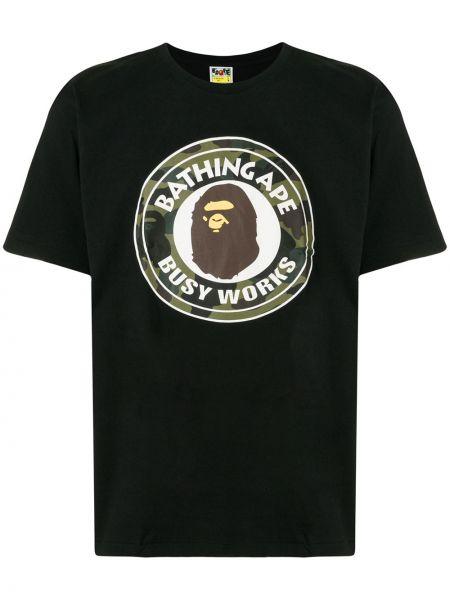 Koszula krótkie z krótkim rękawem z logo prosto Bape