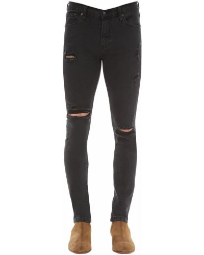 Czarne jeansy bawełniane The People Vs