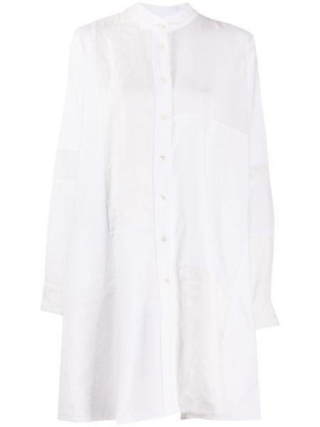 Хлопковое белое платье на пуговицах с воротником Soulland