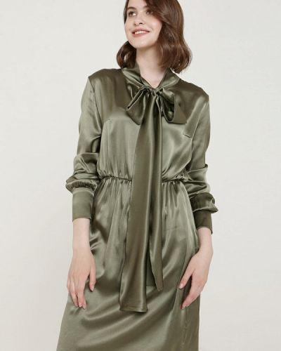Платье прямое зеленый ли-лу