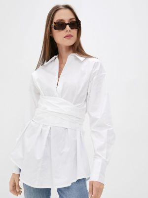 Белая блузка с бантом Guess Jeans