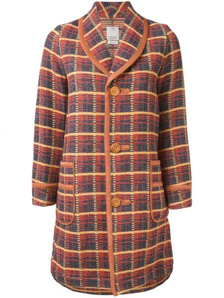 Шерстяное пальто на пуговицах с капюшоном Visvim