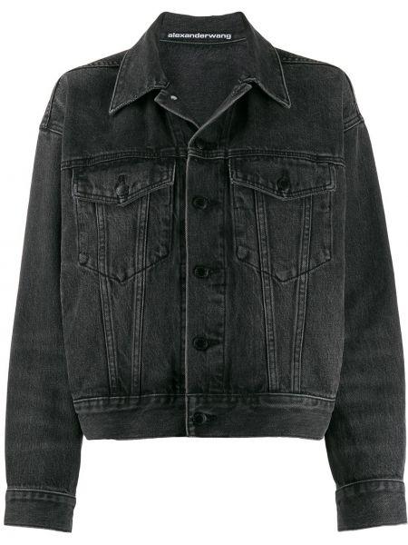 Джинсовая куртка на пуговицах свободная T By Alexander Wang