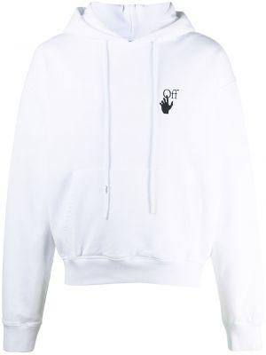 Bluza z kapturem z długimi rękawami bawełniana Off-white