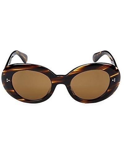 Коричневые солнцезащитные очки с декоративной отделкой Oliver Peoples