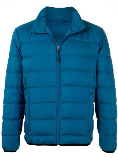 Niebieska kurtka pikowana z długimi rękawami Kent & Curwen