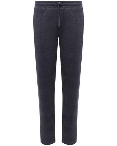 Хлопковые синие брюки Hanro