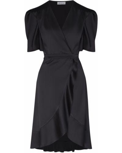 С рукавами черное платье с запахом ли-лу