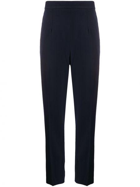 Синие шерстяные укороченные брюки узкого кроя Céline Pre-owned