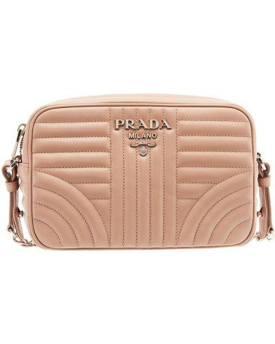 Кожаный сумка маленькая с логотипом Prada
