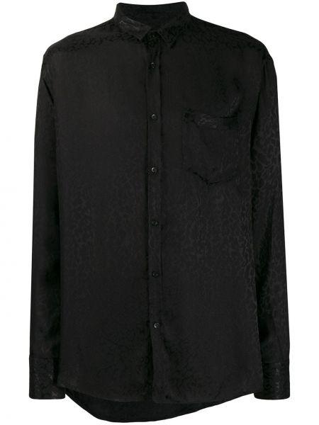 Klasyczna czarna klasyczna koszula z wiskozy Christian Pellizzari