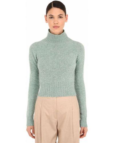 Шерстяной свитер - голубой Victoria Beckham
