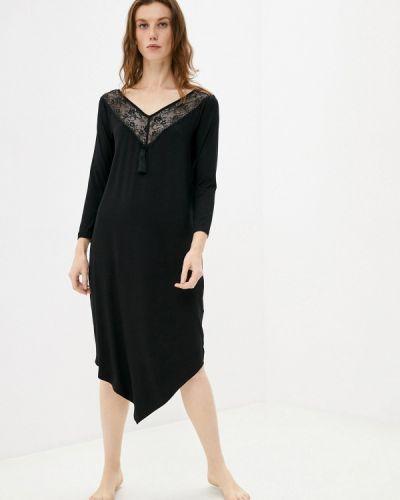 Домашнее черное платье Petit Pas