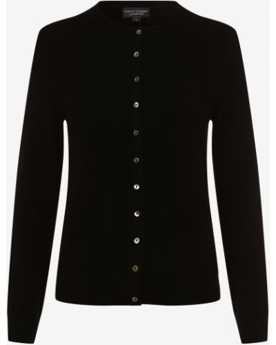 Czarny z kaszmiru sweter Franco Callegari