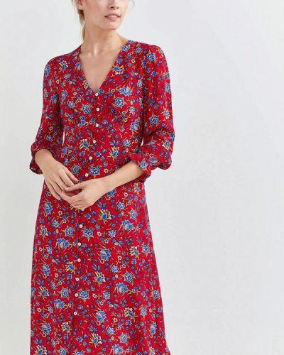 Прямое красное платье Springfield